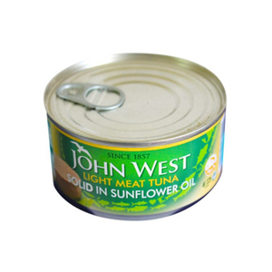 John West Light Tuna Solid In Sunflower Oil 170gm