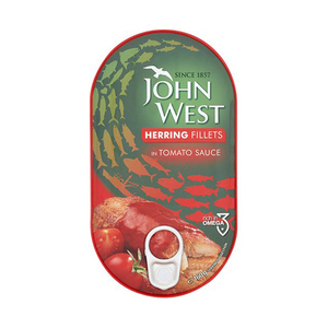 Johnwest Herring Fillets Tomato Sauce 160gm