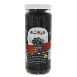 Acorsa Olives Black Sliced Jar 230gm