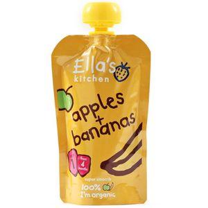 Ella's Kitchen Organic Banana & Apple Baby Puree (4+ Months) No Added Sugar No Added Salt 120g