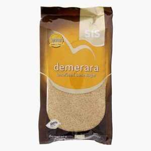 Sis Demerara Unrefined Can Sugar 500g