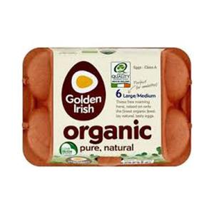 Golden Irish Organic Eggs Medium 6's