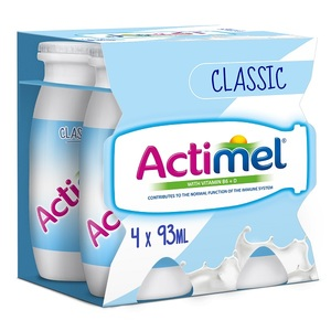 Actimel Classic Plain Low Fat Dairy Drink 4x93ml