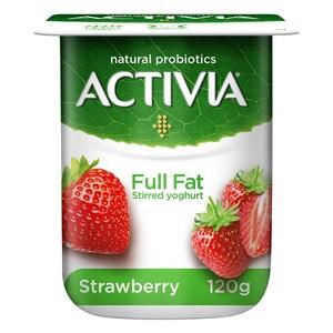 Activia Stirred Strawberry Full Fat Yoghurt 120g