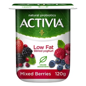 Activia Stirred Mixed Berries Low Fat Yoghurt 120g