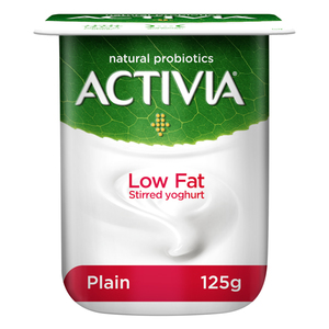 Activia Low Fat Plain Stirred Yoghurt 125g