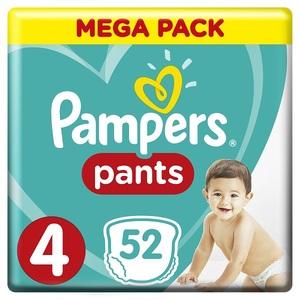 Pampers Pants Diapers Size 4 Maxi 9-14 Kg Mega Pack 52 pcs