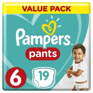 Pampers Pants Diapers Size 6 Extra Large 16+ Kg Carry Pack 19 pcs
