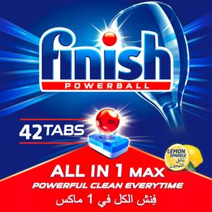 Finish Dishwash Detergent All In One Tabs Lemon 42s