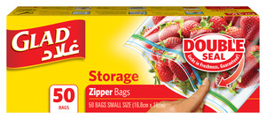 Glad Zipper Storage Bags 50s