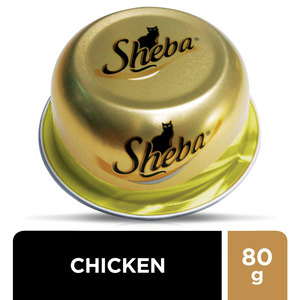 Sheba Dome Fine Cuts with Chicken Wet Cat Food Can 80g