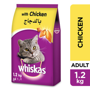 Whiskas Chicken Dry Cat Food Adult 1+ Years 1.2kg