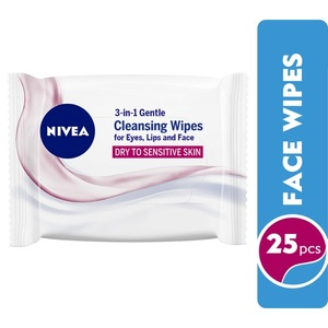 Nivea Gentle 3-In-1 Cleansing Face Wipes Dry & Sensitive Skin 25wipes