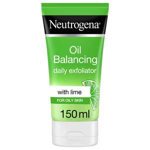 Neutrogena Oil Balancing Daily Exfoliator Lime & Aloe Vera For Oily Skin 150ml