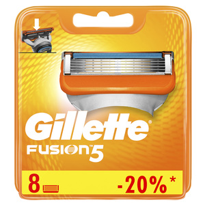 Gillette Fusion Men's Razor Blade Refills 8s