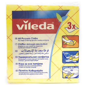 Vileda All Purpose Cloth 3pc