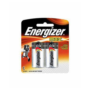 Energizer Max Alkaline C Battery 1.5V 2pc