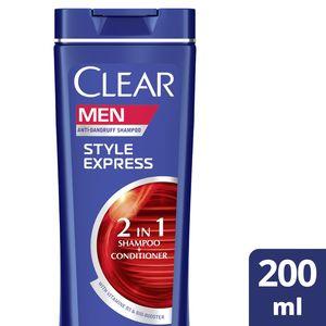 Clear Men's AntiDandruff Shampoo Style Express 2In1 200ml