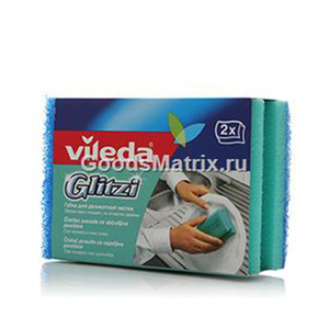 Vileda Glitzi For Dishes Sponge Scourer 1set