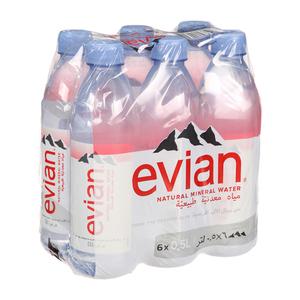 Evian Prestige Mineral Water 6x500ml