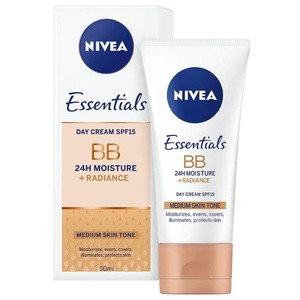 Nivea Face BB Day Cream Moisturise & Even Skin Tone Medium SPF 15 50ml