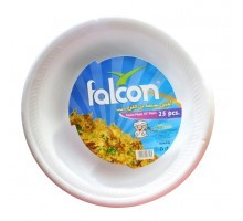 Falcon Retail Foam Plate 10 Inch 25pc