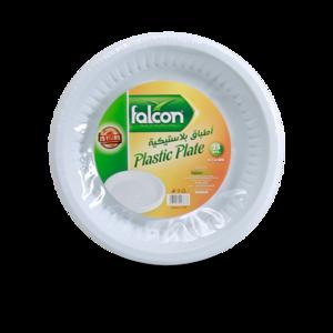 Falcon Round Plastic Plate 25s