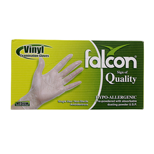 Falcon Vinyl Gloves With Powder Small 100s