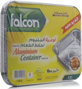 Falcon Aluminium Container Rectangular 10s