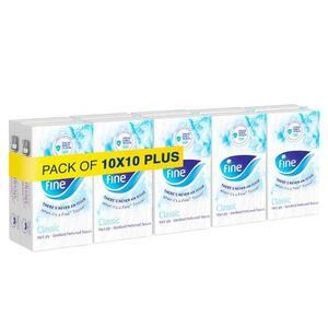 Fine, Sterilized Facial Tissues Classic Pocket White Tissues 100s