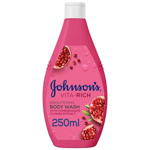 Johnson's Body Wash Vita-Rich Brightening Pomegranate Flower 250ml