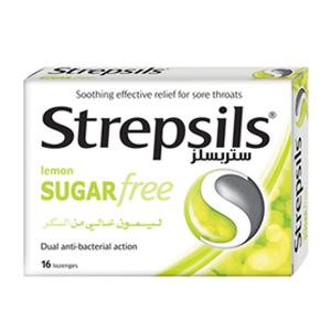 Strepsils Sugar Free Lemon Lozenges 16pcs