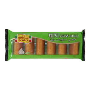 Sara 6 Mini Roll Vanilla 25 6s