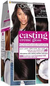 L'Oreal Paris Casting Creme Gloss 200 Deep Black Haircolor 1set