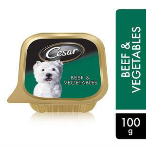 Cesar Beef & Vegetables Wet Dog Food Foil Tray 100g