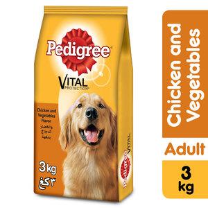 Pedigree Chicken & Vegetables Flavor Adult Dry Dog Food 3kg