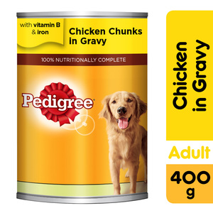 Pedigree Chicken Chunks In Gravy Wet Dog Food Can 400g