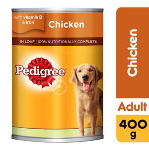 Pedigree Chicken Loaf Wet Dog Food Can 400g