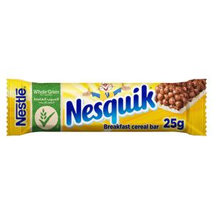 Nesquik Chocolate Breakfast Cereal Bar 25g