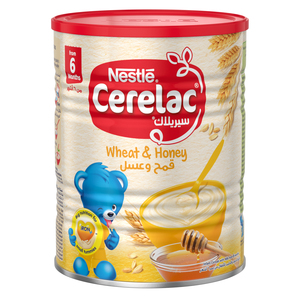 Nestle Cerelac Infant Cereals With Iron+ Wheat & Honey Tin From 6 Months 400g