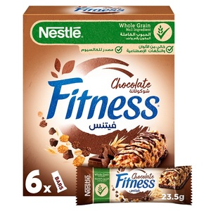 Nestle Fitness Chocolate Breakfast Cereal Bars 6x23.5g