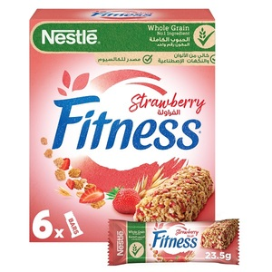 Nestle Fitness Strawberry Breakfast Cereal Bar 6x23.5g