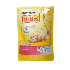 Purina Friskies Kitten Chicken Flavour In Jelly Wet Cat Food 85g