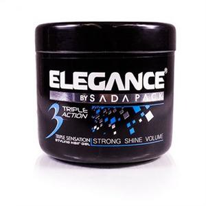 Elegance Triple Action Hair Gel, Blue 500ml