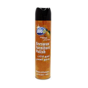 Big D Beeswax Furniture Polish Clean & Protect With Orange 300ml