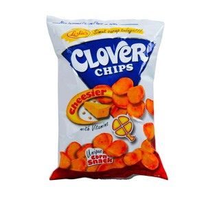 Leslies Chips Cheese Clover 145g