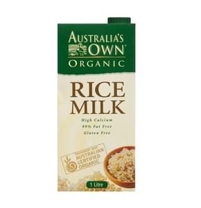 Australia's Own Organic Rice Milk 1L