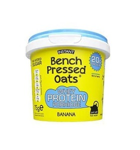 Bench Pressed Oats High Protein Oats Banana 75g