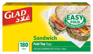 Glad Sandwich Fold Top 180s
