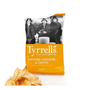 Tyrrell's Chips Mature Cheddar And Chives 40g